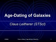 Age-Dating of Galaxies