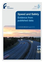 Speed and Safety - Mitchell - RAC Foundation