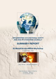 IG Metall/ArcelorMittal-Workshop - International Safety and Health ...