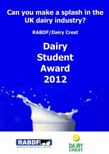 Dairy Student Award 2012 - The Royal Association of British Dairy ...