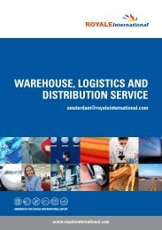 warehouse, logistics and distribution service - Royale International ...