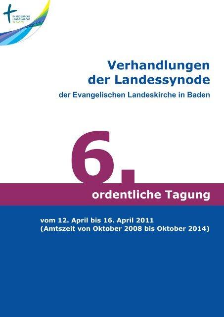 Verhandlungen der Landessynode - Evangelische Landeskirche in ...