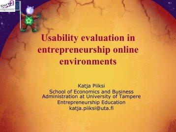 Entrepreneurship into the learning environment