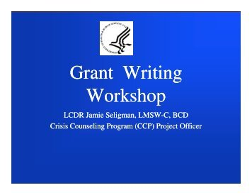 Grant Writing Workshop Grant Writing Workshop