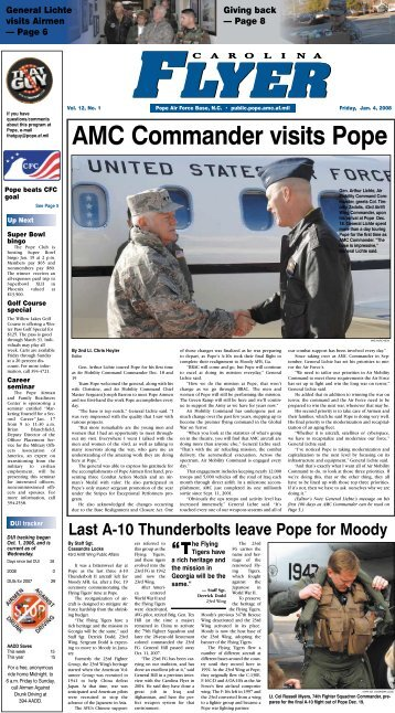 AMC Commander visits Pope - Pope Field - Home