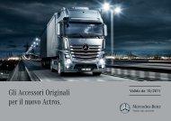 Gli Accessori Originali per il nuovo Actros. - Mercedes Benz