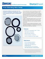 Free-Standing Wire Grid Polarizers - Specac