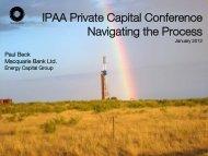 Mezzanine Capital - Independent Petroleum Association of America