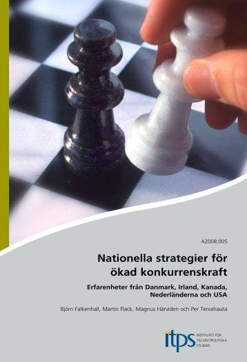 Nationella strategier för ökad konkurrenskraft