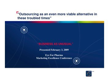 """Outsourcing as an even more viable alternative in ... - inVentiv Health"