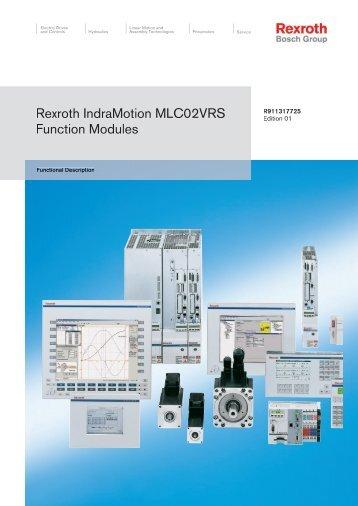 Function Modules Description Manual (V01 / 3.5 MB) - Bosch Rexroth