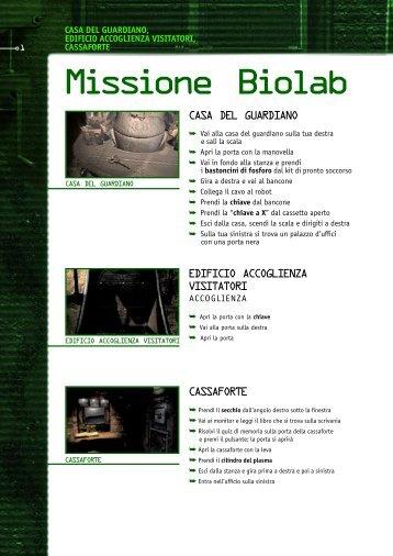 Missione Biolab - Focus