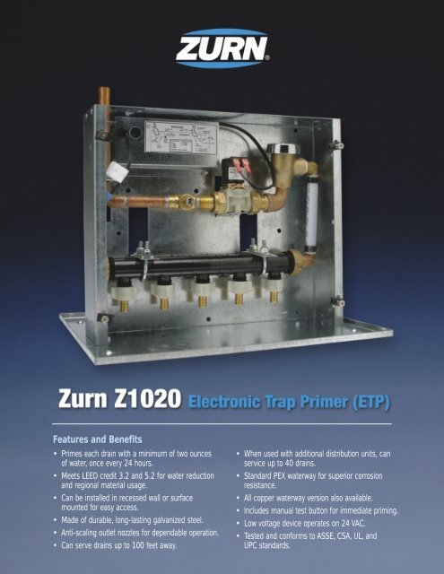 Z1020 Electronic Trap Primer - RTC-Global