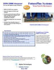 DDR4 DIMM Interposer - FuturePlus Systems