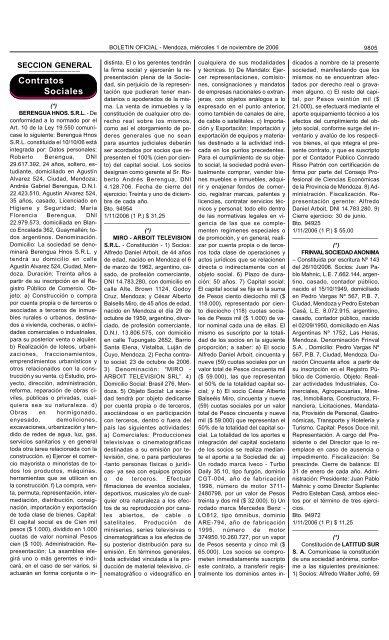 Boletin Oficial N 27773 Del 01 11 2006 Gobernación De