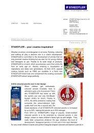PRESS RELEASE ___ February 2010 - Staedtler