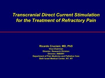 Transcranial Direct Current Stimulation For The Treatment Of