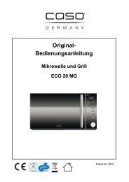 Bedienung und Betrieb - Caso-Germany