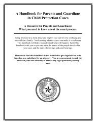 A Handbook for Parents and Guardians in Child Protection Cases