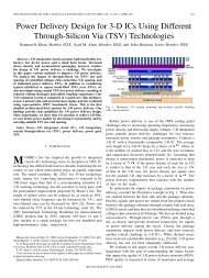 Power Delivery Design for 3-D ICs Using Different Through-Silicon ...