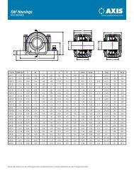 Axis SAF Housings Spec Sheet (PDF) - McGuire Bearing Company