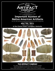 Important Auction of Native American Artifacts - The Artifact Company