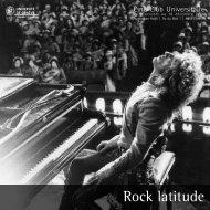 Rock latitude - Activités culturelles de l'Université de Genève