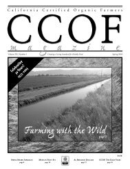 Farming with the Wild - CCOF