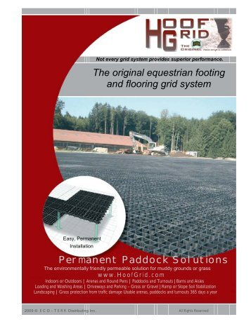 hoofgrid 4 page brochure full color eco terr