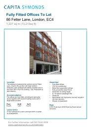 86 Fetter Lane EC4 - Details - Capita Symonds