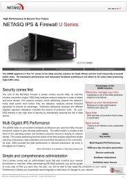 NETASQ IPS & Firewall U Series