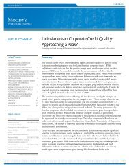 Latin American Corporate Credit Quality: Approaching a Peak?