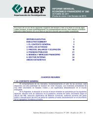 INFORME MENSUAL ECONÓMICO FINANCIERO N° 260