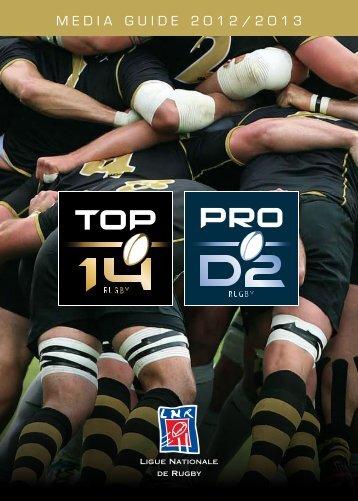 media guide 2012/2013 - Ligue Nationale de Rugby