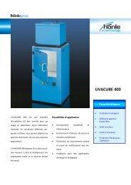 Information sur le produit UVACUBE 400 - Dr. Hönle AG