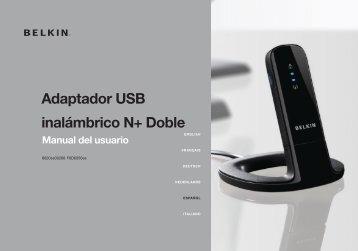 Adaptador USB inalámbrico N+ Doble