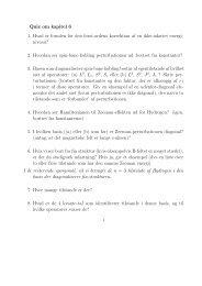 Quiz om kapitel 6 1. Hvad er formlen for den først-ordens ... - dirac