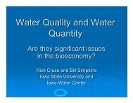 Water Quality and Water Quantity Are they ... - Mud City Press