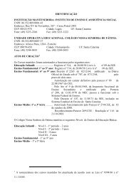 1 FILOSOFIA DA INSTITUIÇÃO - Colégio Nossa Senhora de Fátima