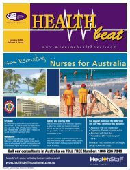 January 2006 Volume 9, Issue 1 - McCrone Healthbeat