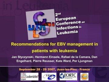 EBV reactivation - eortc