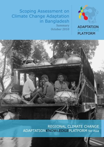 Scoping Assessment on Climate Change Adaptation in Bangladesh