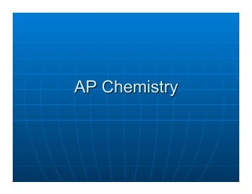 AP Chemistry Overview - Howard High