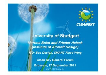 Feedback for CSJU from University of Stuttgart - Clean Sky