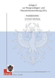 Anlage 2 zur Plangrundlagen- und Planzeichenverordnung 2011 ...