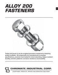 FASTENERS - CHROMATE - Chromate Industrial Corporation