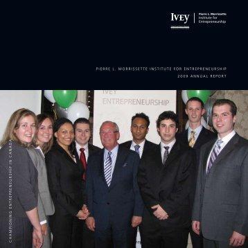 2009 - Ivey Institute for Entrepreneurship