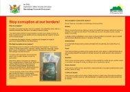 Border Post Anti-Corruption Pamphlet - MCLI