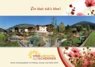 Sommerprospekt 2014 - Vital Landhotel Schermer