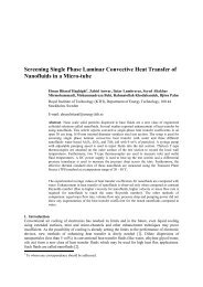 Screening Single Phase Laminar Convective Heat Transfer